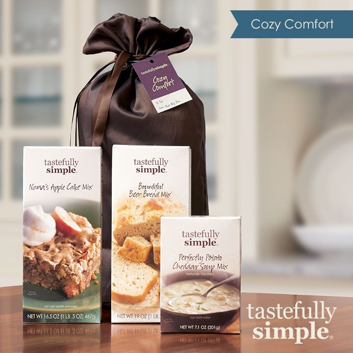 Cozy Comfort!! One of our Popular gifts! Bountiful Beer Bread Mix Nana's Apple Cake Mix Perfectly Potato Cheddar Soup Mix