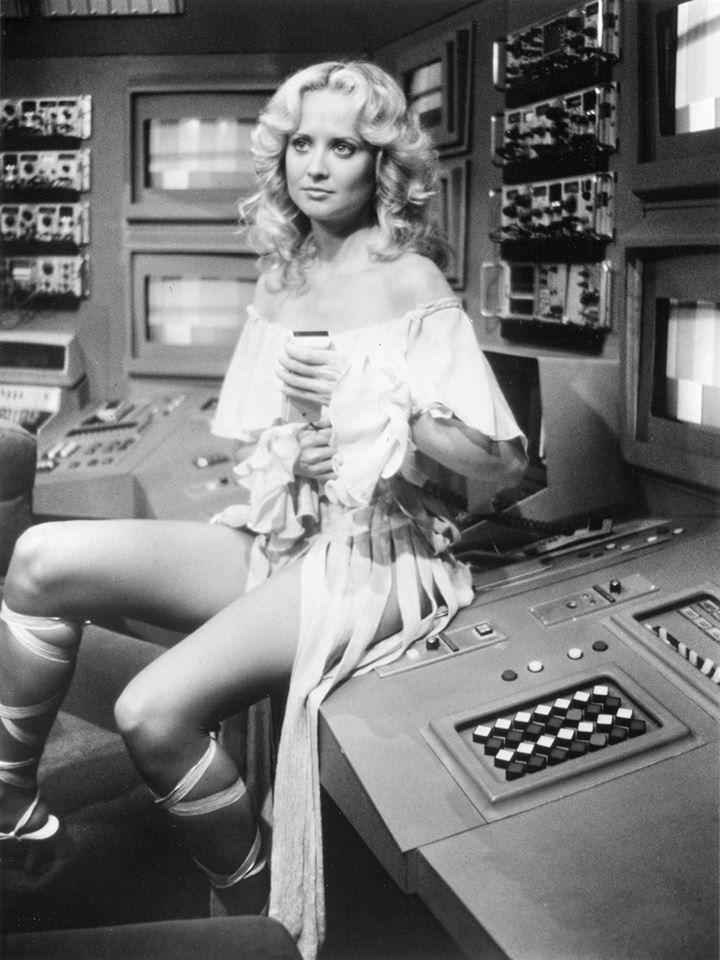 Laurette Spang as Cassiopeia in Battlestar Galactica (1978).