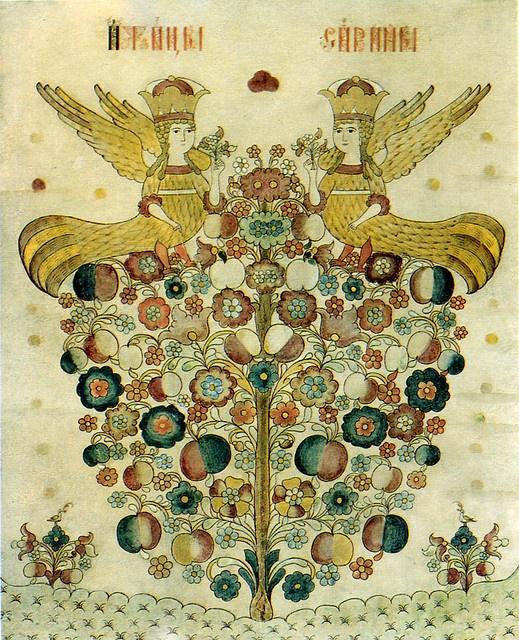 Sirin,the Bird of Paradise 2nd half of the 19th century