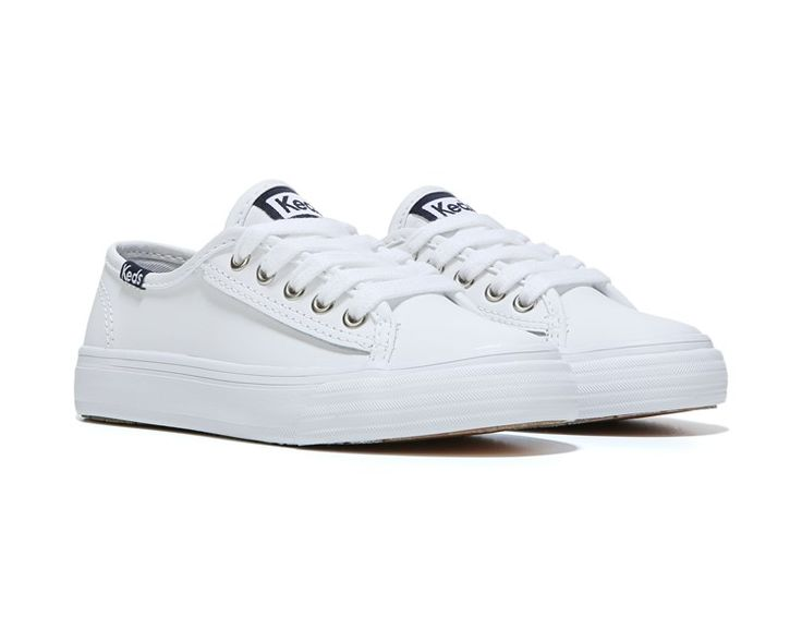 preschool keds double up white