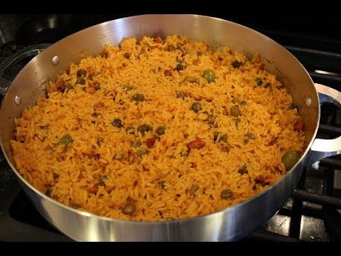 How To Make Authentic Puerto Rican Arroz Con Gandules - Party Rice - YouTube