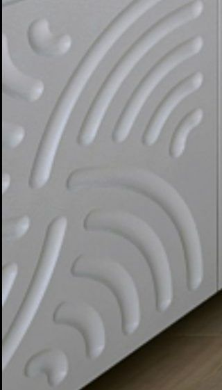 dulap incastrat fronturi mdf 3d perete model linii curbe