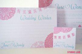 Huwelijkskaart Wendy & Jose