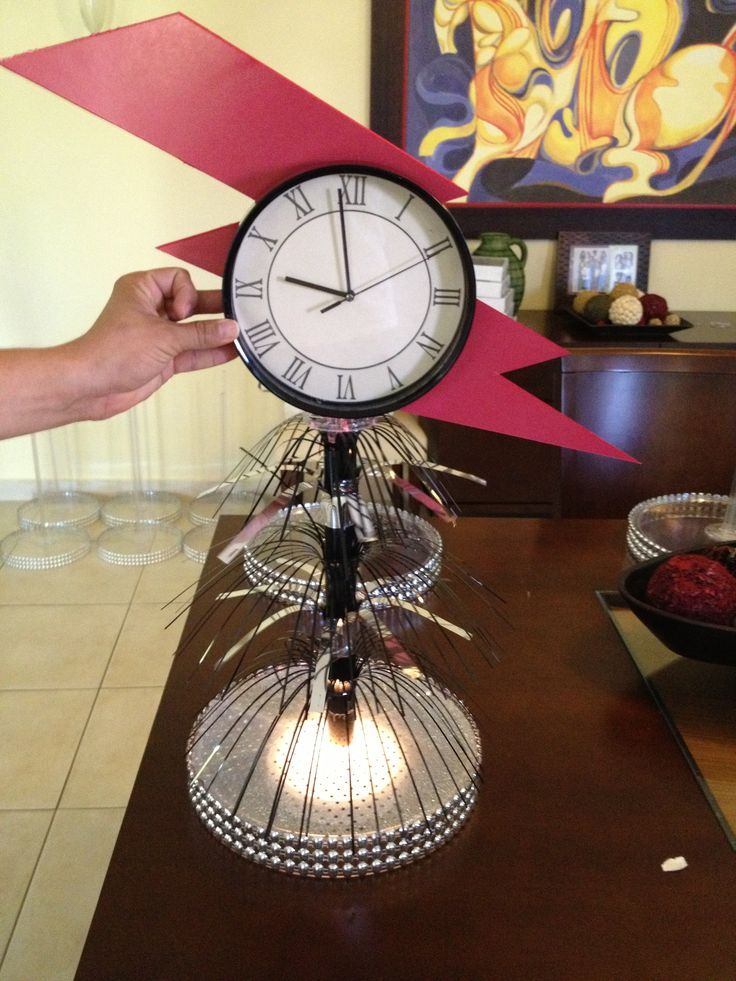 Centerpiece. Back to the future party for Nicks birthday this year :-)