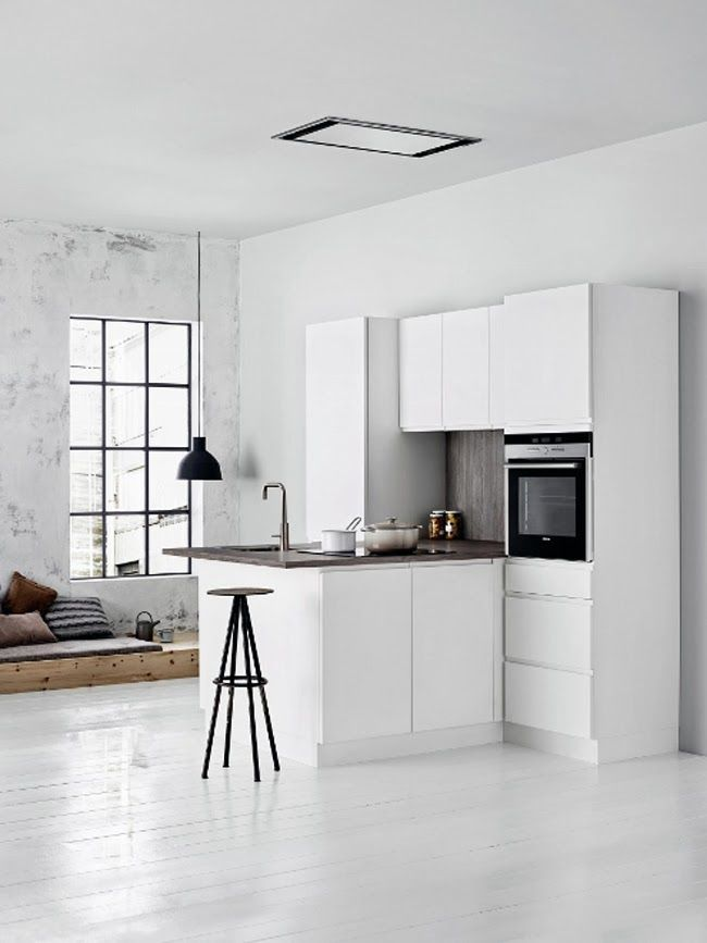 Una cucina piccola e compatta
