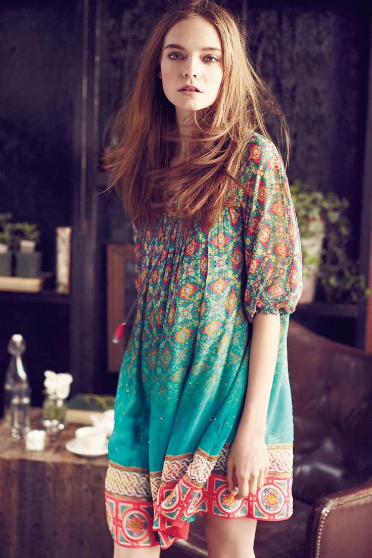 Need!: Pretty Pattern, Fashion, Anthropology, Glimmered Ankita, Dresses, Ankita Dress, Boho Style, Ankitadress