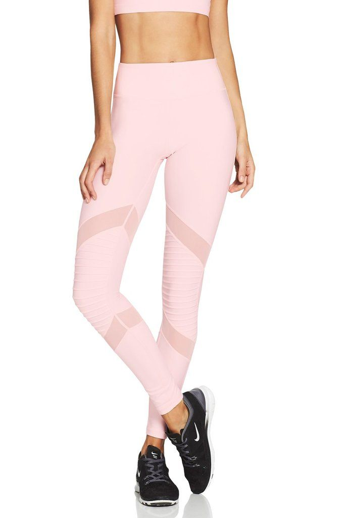 dd7a8fa4685f2 MOTO Long Gym & Running Workout Leggings - Pale Pink/Blush – Nimble  Activewear