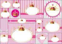 Princesa o Reina: Kit para Imprimir Gratis.