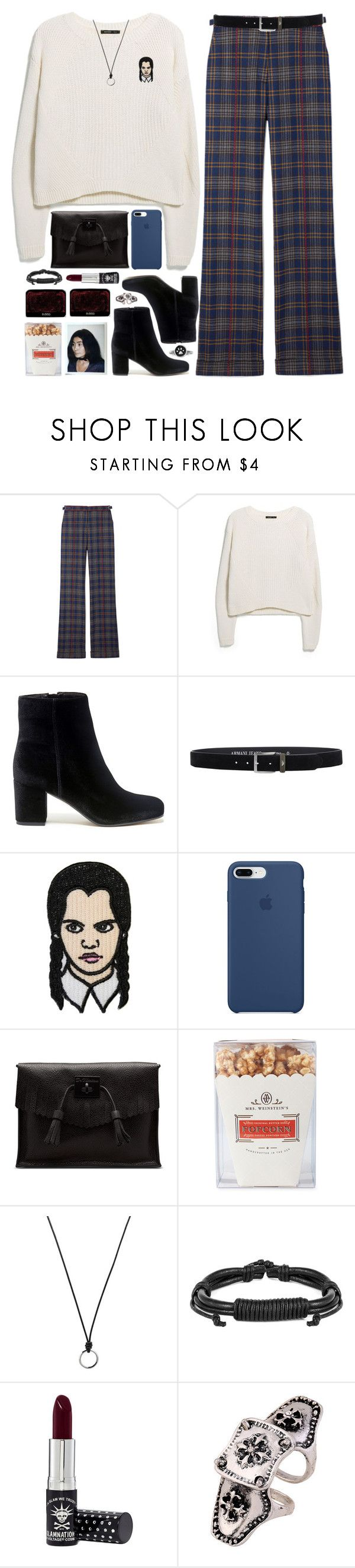 """""""*relax, we are all going to die one day.*"""" by my-black-wings ❤ liked on Polyvore featuring Gabriela Hearst, MANGO, Sole Society, Armani Jeans, Apple, Dr. Martens, Neiman Marcus, FOSSIL, West Coast Jewelry and WithChic"""