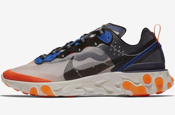 027b9de1e266 The Nike React Element 87 Thunder Blue Total Orange Debuts This Fall Season  Aside from the