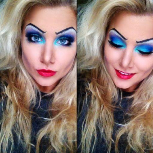 Disney Ursula makeup tutorial