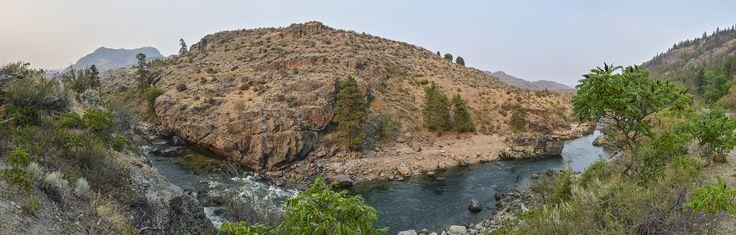 pano of Similkameen River, Oroville, Wa.