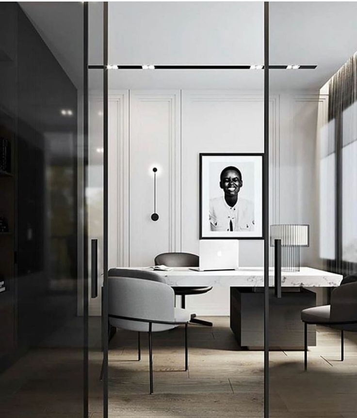 Ashley Stark Kenner On Instagram Be Happy Not Because Everything Is Good But Because You C Home Office Design Office Interior Design Modern Office Interiors