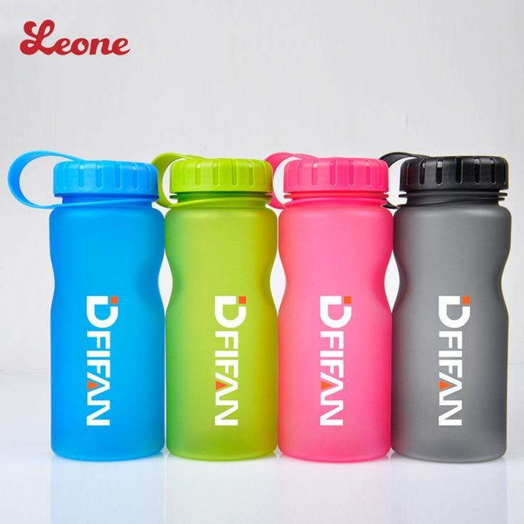 High capacity portable Scrub Frosted brief sports Plastic water bottle with Handle for Running tennis outdoor  Drinkware kettle