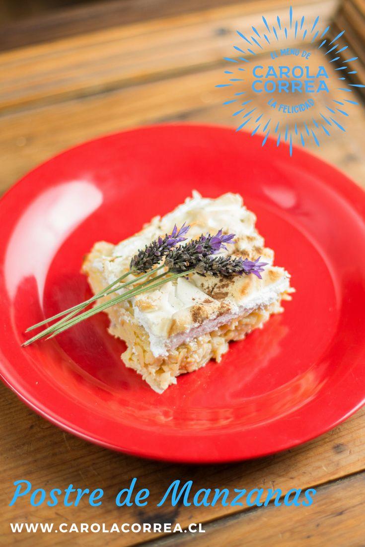 Postre de manzanas Ingredientes (8) 6 manzanas verdes ralladas 1 tarro leche condensada 4 yemas huevo 1 cdita canela Merengue 4 claras 7 cda azúcar granulada 6 cda azúcar flor  Preparación Rallar manzanas, mezclarlas con canela, leche condensada y yemas. Dejar en una budinera, cocinar por 20´ a horno mediano. Preparar el merengue, batiendo claras a nieve. Incorporar azúcar batiendo. Añadir azúcar flor con movimientos envolventes. Agregar merengue al postre y hornear 5´ dejar enfriar y…