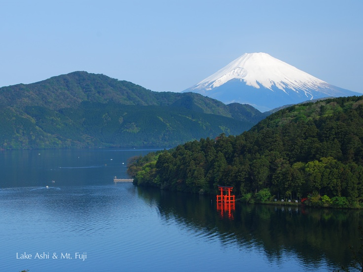 Mt.Fuji from Ashi lake