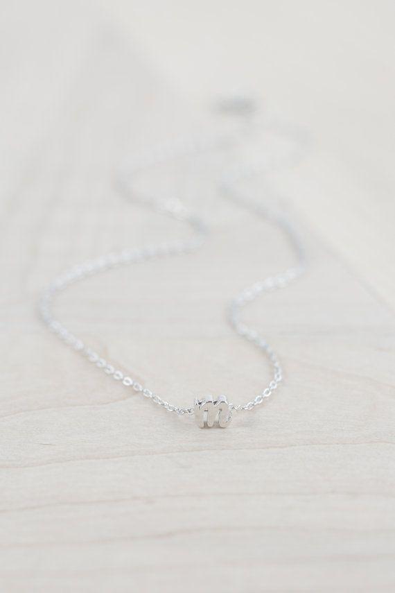 Zilveren eerste ketting bruidsmeisje voorstel bruidsmeisje