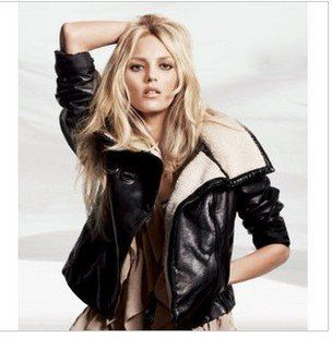 Women's winter leather coats – Modern fashion jacket photo blog