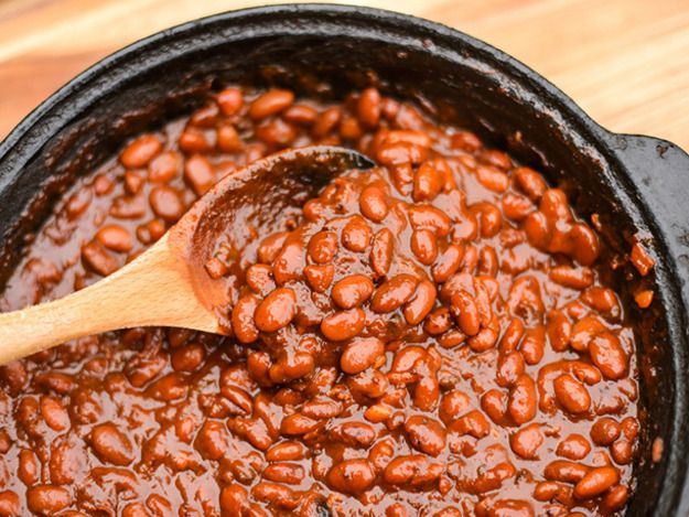 The time investment of using dried beans pays in this recipe, which produces some of the best barbecue beans you'll ever have—a slowly reduced sauce packs a deep and complex barbecue flavor while tender and creamy beans round it out.