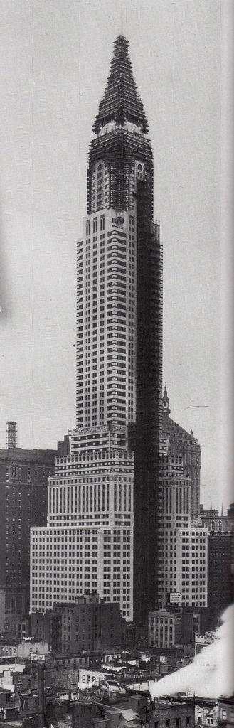 The Chrysler Building under construction [November 1929]