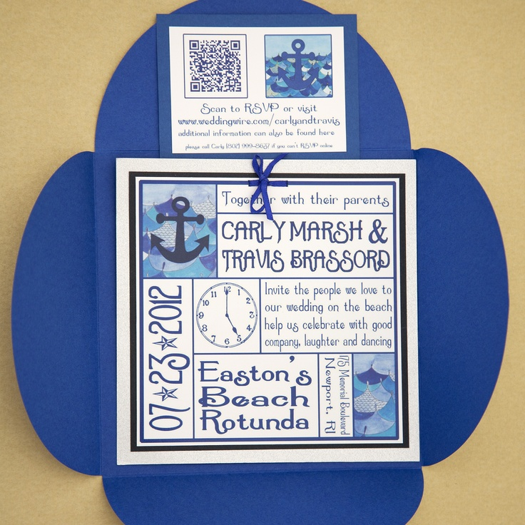 Wedding invitations with a QR code for RSVP! Your guests