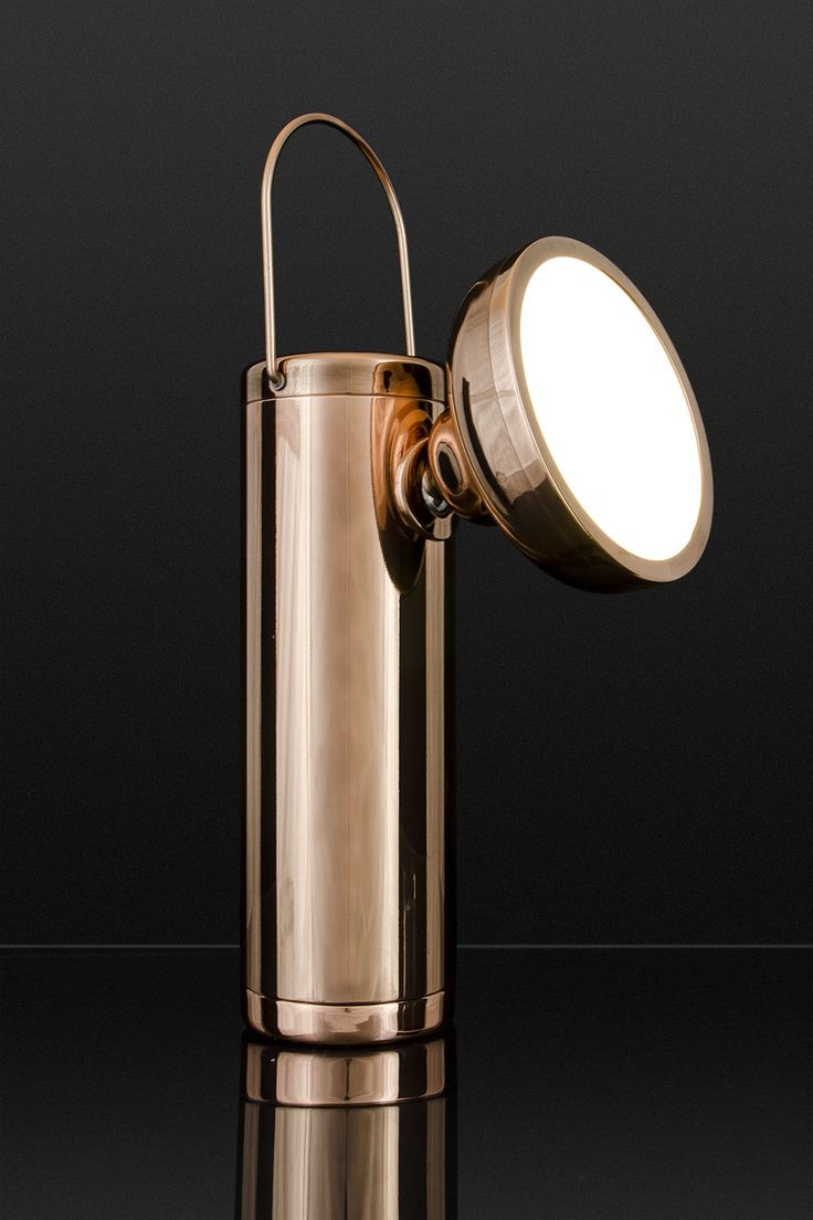 Special edition M Lamp, polished copper. David Irwin for Juniper
