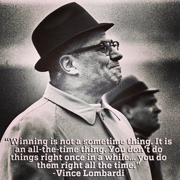Lombardi Quotes: 17 Best Ideas About Vince Lombardi On Pinterest