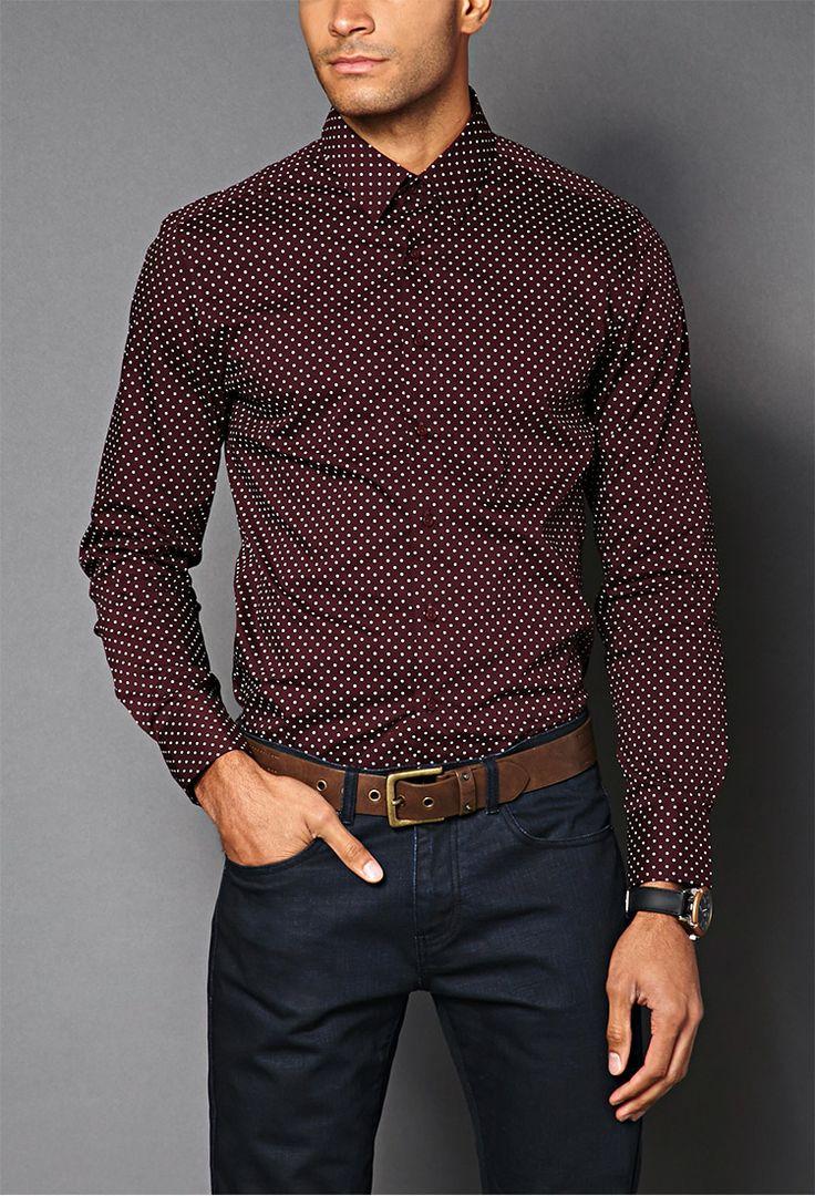 Polka Dot Slim Fit Shirt | 21 MEN - 2000063781 $19.80...