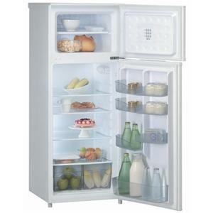 LADEN - DP148 _ Réfrigérateur 2 portes - capacité 171 L - Dégivrage automatique - Clayettes verre. Congélateur : 41 L - Bac à glaçons - Poignées intégrées.