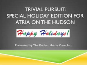"""One attendee said it was, """"a lot of fun.""""  Another said it was, """"challenging.""""  Still another said, """"it elevated my holiday spirit.""""  The attendees were residents of Atria on the Hudson, an assisted  living community in Ossining, NY."""