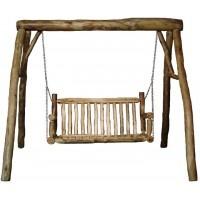 Beartooth Aspen Yard Log Swing Wood Bench Pinterest