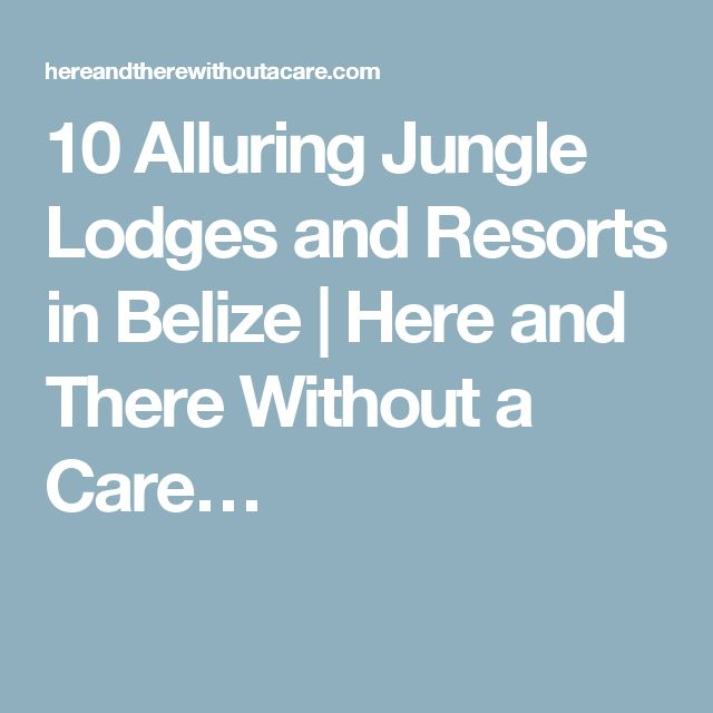10 Alluring Jungle Lodges and Resorts in Belize | Here and There Without a Care…