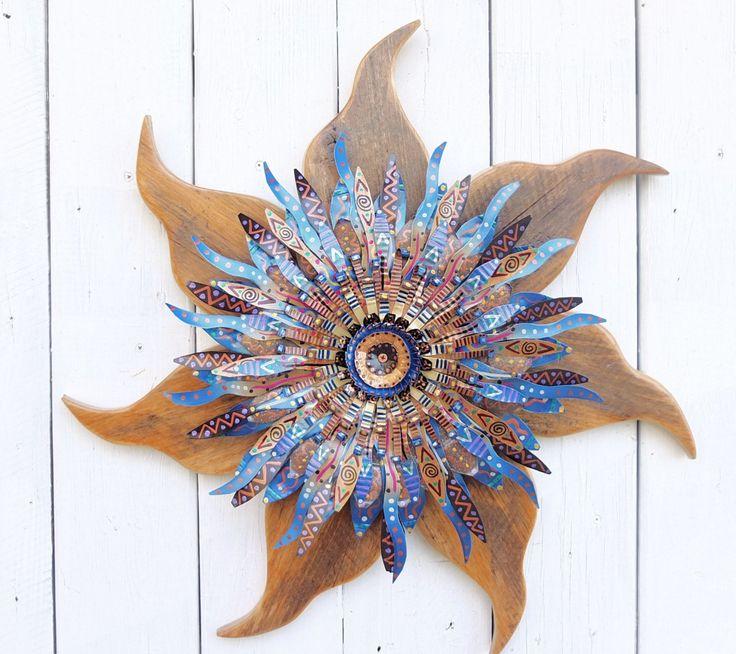 Rustic Wreath | Indigo Wall Art | | Blue Decor | Reclaimed Wood Wall Art | Salvaged Metal & Wood | Wall Sculpture | Modern Farmhouse by SalvageandBloom on Etsy https://www.etsy.com/listing/180130325/rustic-wreath-indigo-wall-art-blue-decor