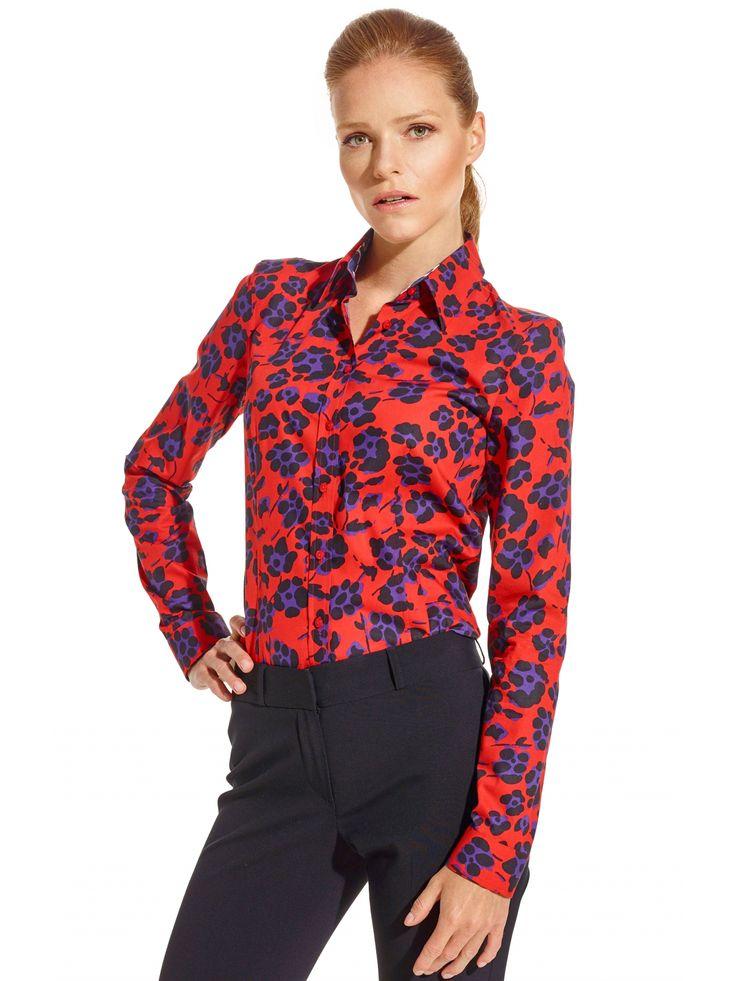 Czerwona koszula damska Lambert 249.90 - wolczanka.pl - Wolczanka.pl sklep internetowy