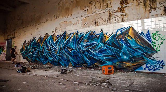 Amazing Graffiti Writing Time lapse of Sofles in Melbourne timelapse graffiti
