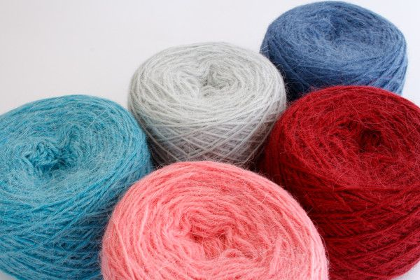Exclusive colours of Orkney Angora DK only at Tangled Yarn