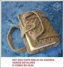Resultado de imagem para capa de biblia em crochet