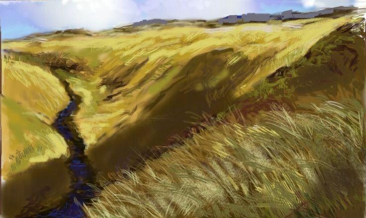 Brecon Beacons, iPad painting