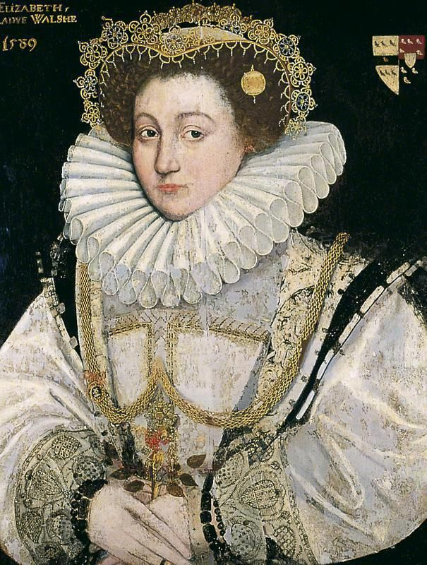 "1589 Lady Elizabeth Walshe by ? (York Museum - York UK)  ""Elizabeth Stoner was a lady-in-waiting to each of Henry VIII of England's six wives, and was the 'Mother of the Maids', with responsibility for the conduct of the young maids-of-honour. She was the wife of the King's Sergeant-at-Arms, William Stoner. She is remembered as one of the gaolers of Anne Boleyn, Henry VIII's second wife."