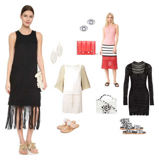 """""""Crochet Fashion..##"""" by yagna ❤ liked on Polyvore featuring Novis, See by Chloé, Isabel Marant, Tess Giberson, Marques'Almeida, Joie, Maison Margiela, Marco de Vincenzo, Kenzo and Theia Jewelry"""