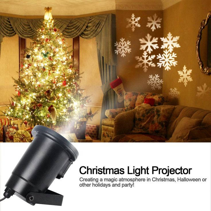 Gemtune Christmas Light Projector LED with Moving White Snowflakes, Indoor and Outdoor Waterproof Ceiling Projection Decorative Wall Spotlights Night Light Lamp for Xmas Thanksgiving Day Party Home