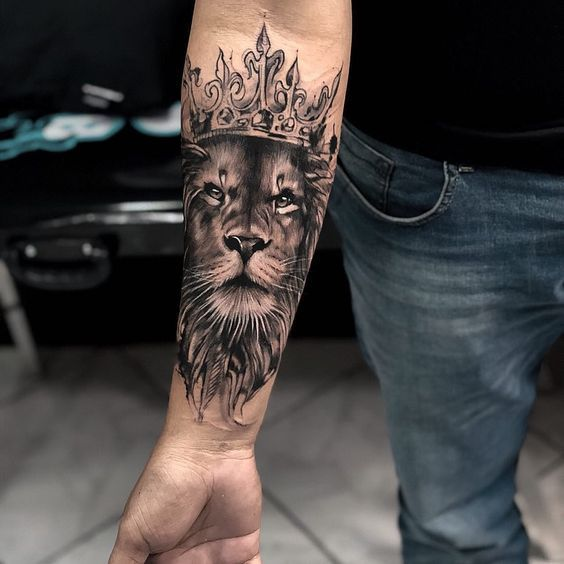 Popular Lion Tattoo In 2019 Tattoos For Men Tattoo Ideas