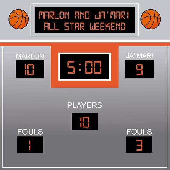 Basketball Themed Photo Booth Backdrop Score Board Backdrop Basketball Birthday Banner Sports Party Printed Or Digital File Bbd0086 Basketball Birthday Basketball Theme Party Basketball Birthday Parties