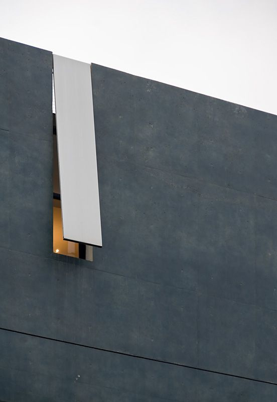 Window detail, Void Space/Hinged Space Housing (1991) - Steven Holl. architecture, exterior, modern, contemporary, abstract, facade