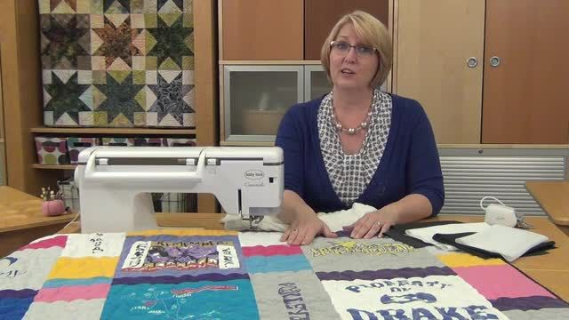 T-shirt quilts are a popular gift and a great way to preserve memories! Here are some tips to make your next t-shirt quilt easier.