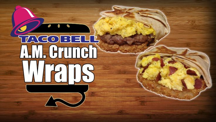 Taco Bell Breakfast AM Crunchwrap Sausage & Turkey Bacon Recipe Remake -...