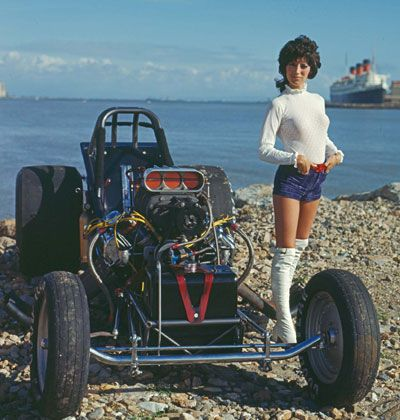 """Shirley """"Cha Cha"""" Muldowney, """"First Lady of Drag Racing"""", early 1970s."""