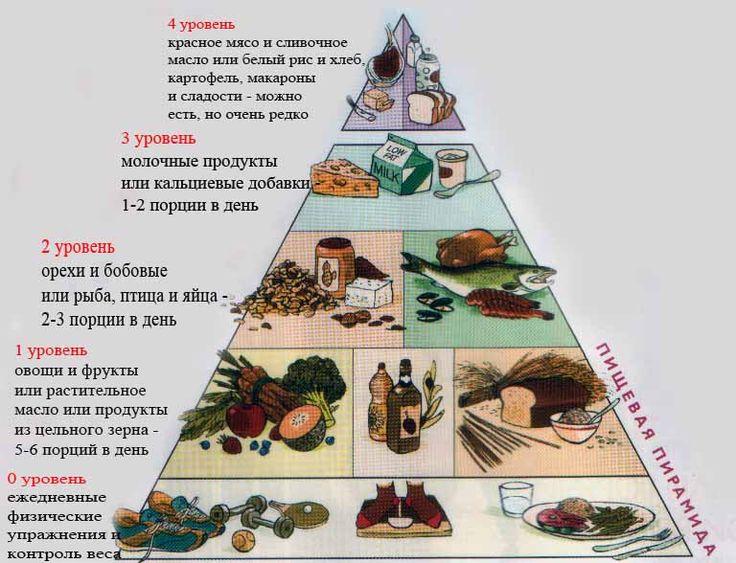 пирамида продуктов правильного питания