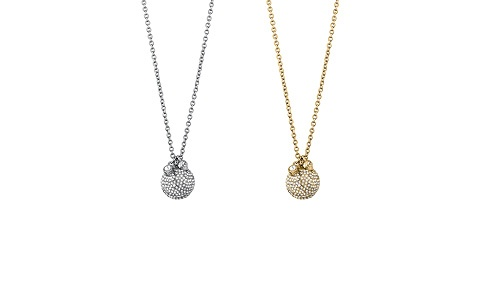 DYRBERG/KERN necklace Riania: Elegant late night glam with this necklace made with large globe of facet cut crystals, crystal pendant and skull pendant.