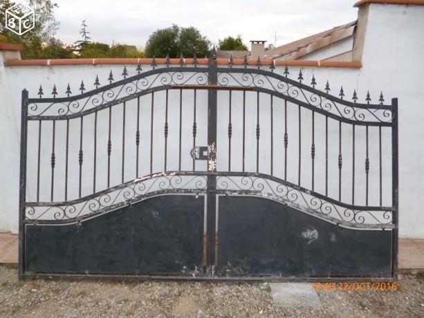 Portail Fer Forgé Artisanal NEUF jamais monté équipement maison - portail de maison en fer